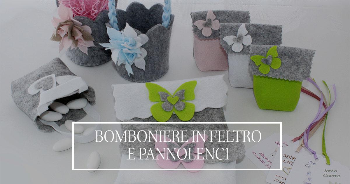 Popolare Bomboniere Handmade realizzate in Feltro - Buttons and Love GW42