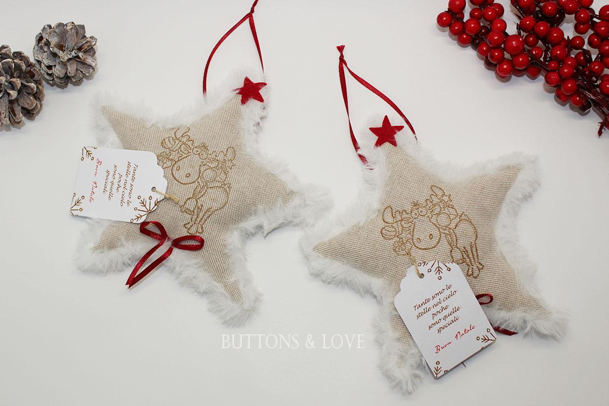 Shabby Chic Natale : Stella renna decorazione shabby chic natale buttons love